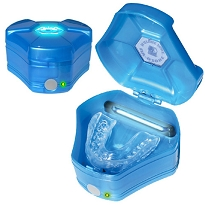 Brain Pad Mouth Guards CASE -  UV/Ozone Sanitize-Deodorizer